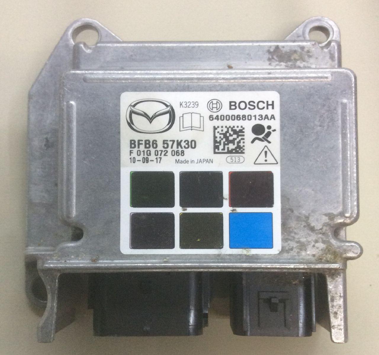 Ремонт блока srs airbag Mazda 3bl